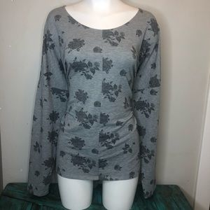 Size XXL George Grey Floral Long sleeve